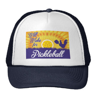 """""""Will Wake for Pickleball"""" Hat"""