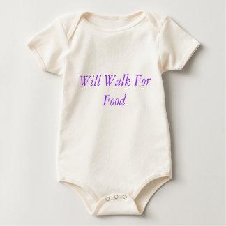 Will Walk For Food Baby Bodysuit