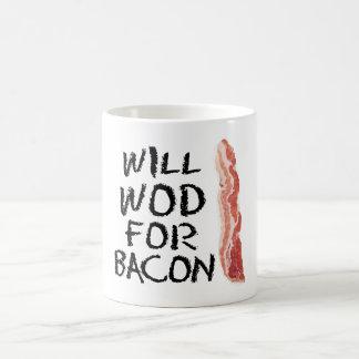 "Will WOD For Bacon"" Mug"