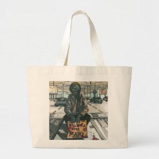 Will Work For Brainz Jumbo Tote Bag