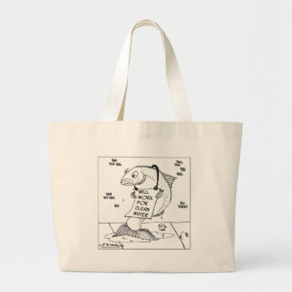 Will Work For Clean Water Large Tote Bag