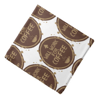 Will Work for Coffee Kerchief