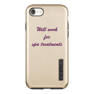 """will work for spa treatments"" - iphone case"