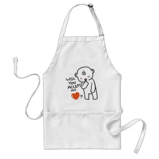 Will You Accept My Love Collection Standard Apron