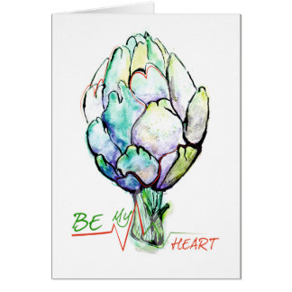 Will you be my artichoke/heart? card