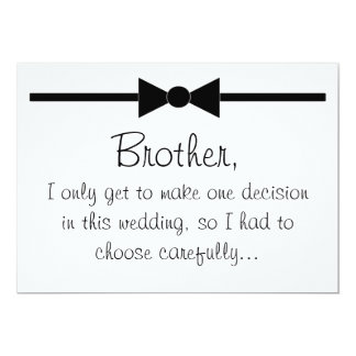 "Will you be my best man 5"" x 7"" invitation card"