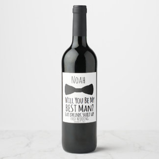 will you be my Best Man? Best Man Wedding Invite Wine Label