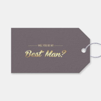 Will you be my Best Man? Custom Gift Tags
