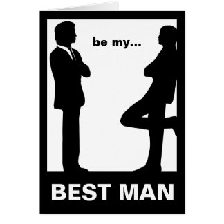 Will You Be My Best Man Greeting Card