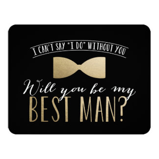"Will you be my Best Man? | Groomsmen 4.25"" X 5.5"" Invitation Card"