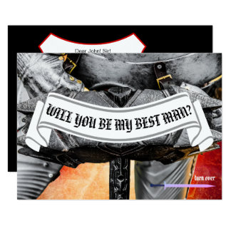 Will you be my best man knight customizable card