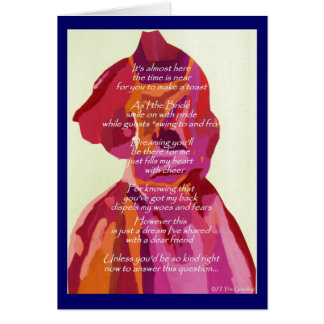 Will You Be My Bridesmaid Autumn Card TBIA Award Greeting Card