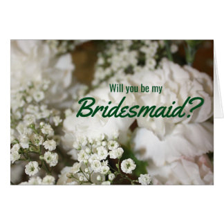 Will You Be My Bridesmaid, Baby's Breath Card
