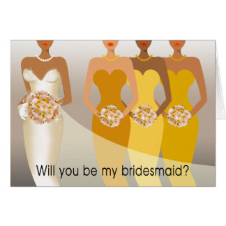 Will you be my Bridesmaid? Bridal Party | yellow Card