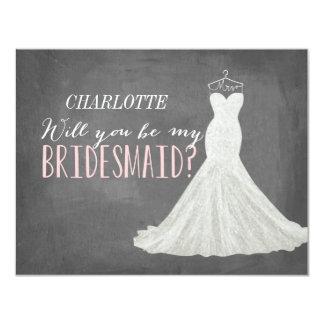 "Will You Be My Bridesmaid | Bridesmaid 4.25"" X 5.5"" Invitation Card"