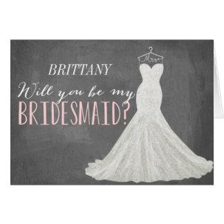 Will You Be My Bridesmaid   Bridesmaid Note Card