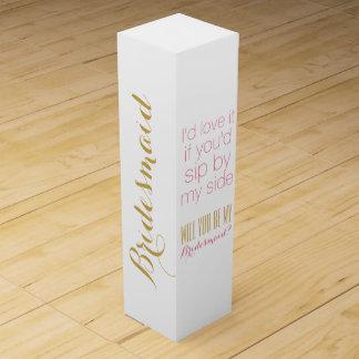 Will you be my bridesmaid bridesmaids gift box wine gift box
