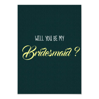 """Will You Be My Bridesmaid?"" Card"