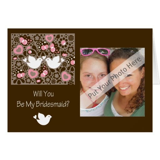 Will You Be My Bridesmaid Card Love Birds