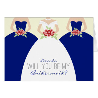 Will You Be My Bridesmaid Card (royal blue)
