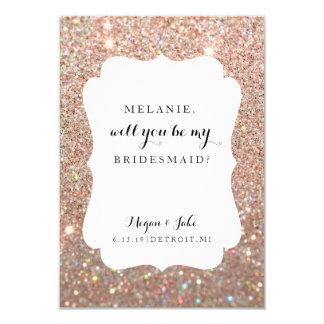 "Will You Be My Bridesmaid Card - Wedding Day Fab 3.5"" X 5"" Invitation Card"