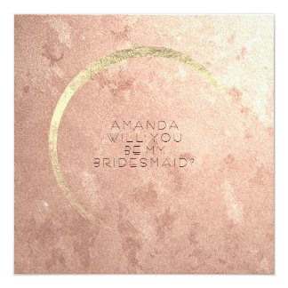 Will You Be My Bridesmaid Champaign Rose Gold Card