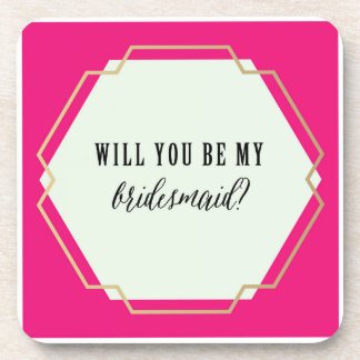 Will You Be My Bridesmaid? Coaster Set