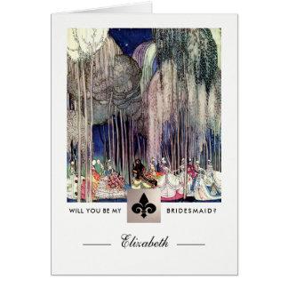 Will you be my Bridesmaid? Custom Invitation Cards
