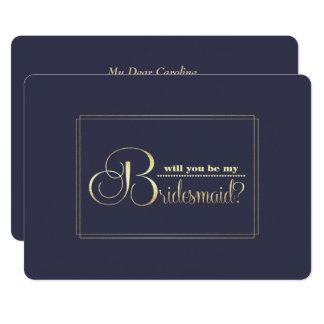 Will you be my Bridesmaid? Custom Invitations