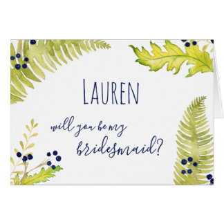 Will You Be My Bridesmaid? - Fern & Berry Design Card