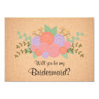 Will you be my Bridesmaid Floral Wreath Invitation