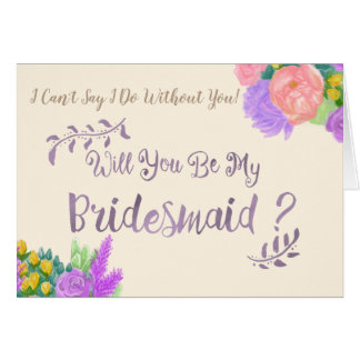 Will You Be My Bridesmaid Flower Card