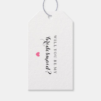 Will You Be My Bridesmaid - Heart Fab Gift Tag Pack Of Gift Tags