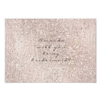 Will You Be My Bridesmaid Ivory Crystals Cement Card