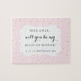 Will You Be My Bridesmaid-MOH Puzzle - Gold Dots P