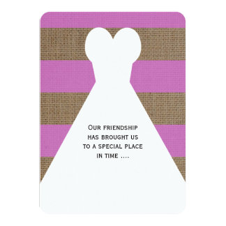 "Will You Be My Bridesmaid Poem Invitations Orchid 4.5"" X 6.25"" Invitation Card"