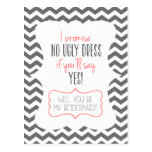 WILL YOU BE MY BRIDESMAID? | POST CARD