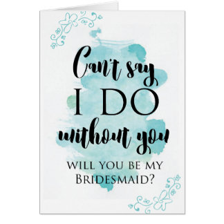 Will you be my bridesmaid question card