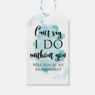 Will you be my bridesmaid question card pack of gift tags