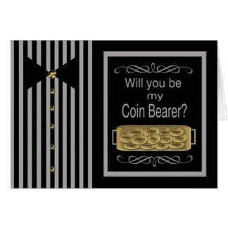 Will You be my Coin Bearer Request Card