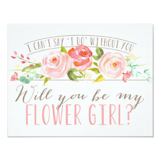 "Will You Be My Flower Girl | Bridesmaid 4.25"" X 5.5"" Invitation Card"