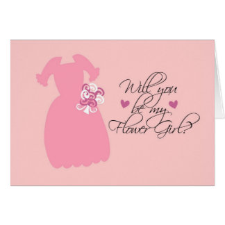 """Will you be my Flower Girl?"" Card"
