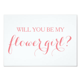 Will You Be My Flower Girl Card Bridal Party Card