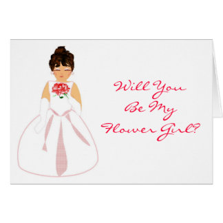 Will You Be My Flower Girl I - Customizable Greeting Cards