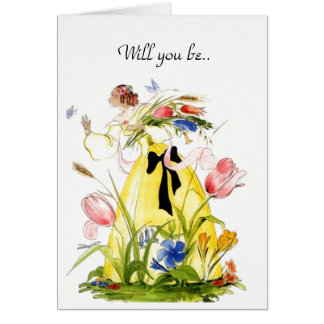 Will You be my Flower Girl? Note Card