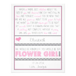 Will you be my Flower girl? Pink/Grey Poem Card