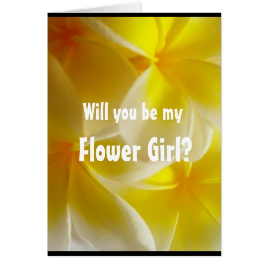 Will you be my Flower Girl? yellow Card