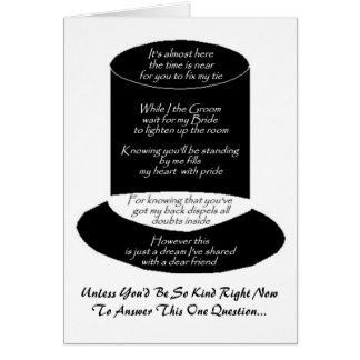 """""""Will You Be My Groomsman"""" Card Cards"""