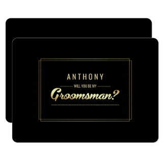 Will you be my Groomsman? Custom Invitations