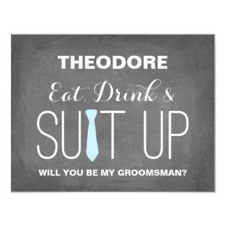 "Will you be my Groomsman ? | Groomsmen 4.25"" X 5.5"" Invitation Card"